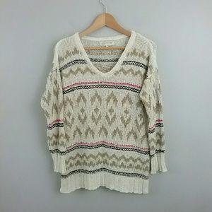 Jones New York Sport//V-Neck Patterned Sweater